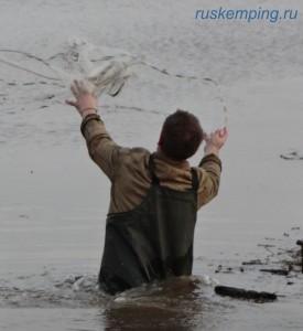рыбалка кастинговой сетью в половодье