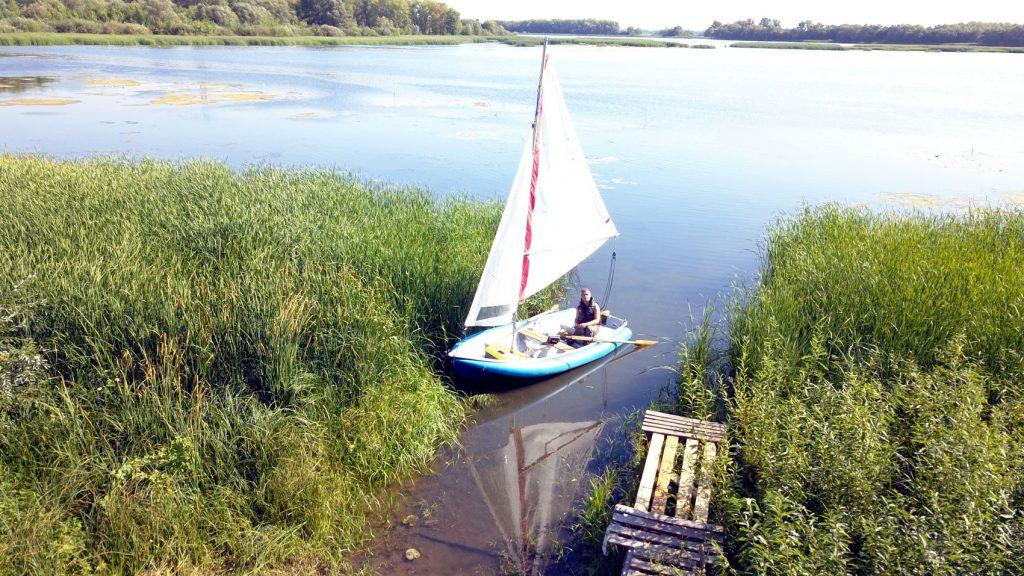 лодка, парус