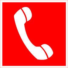 телефонная трубка на красном фоне