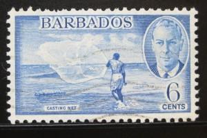 марка в 6 центов - барбадос с изображением
