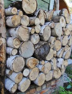 поленья дров для бани