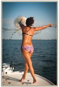 девушка с кастиноговой сетью специально для сайта рускемпинг.ру