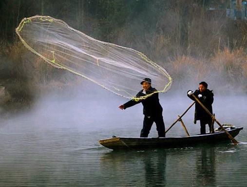 сеть, лодка, кастинговая