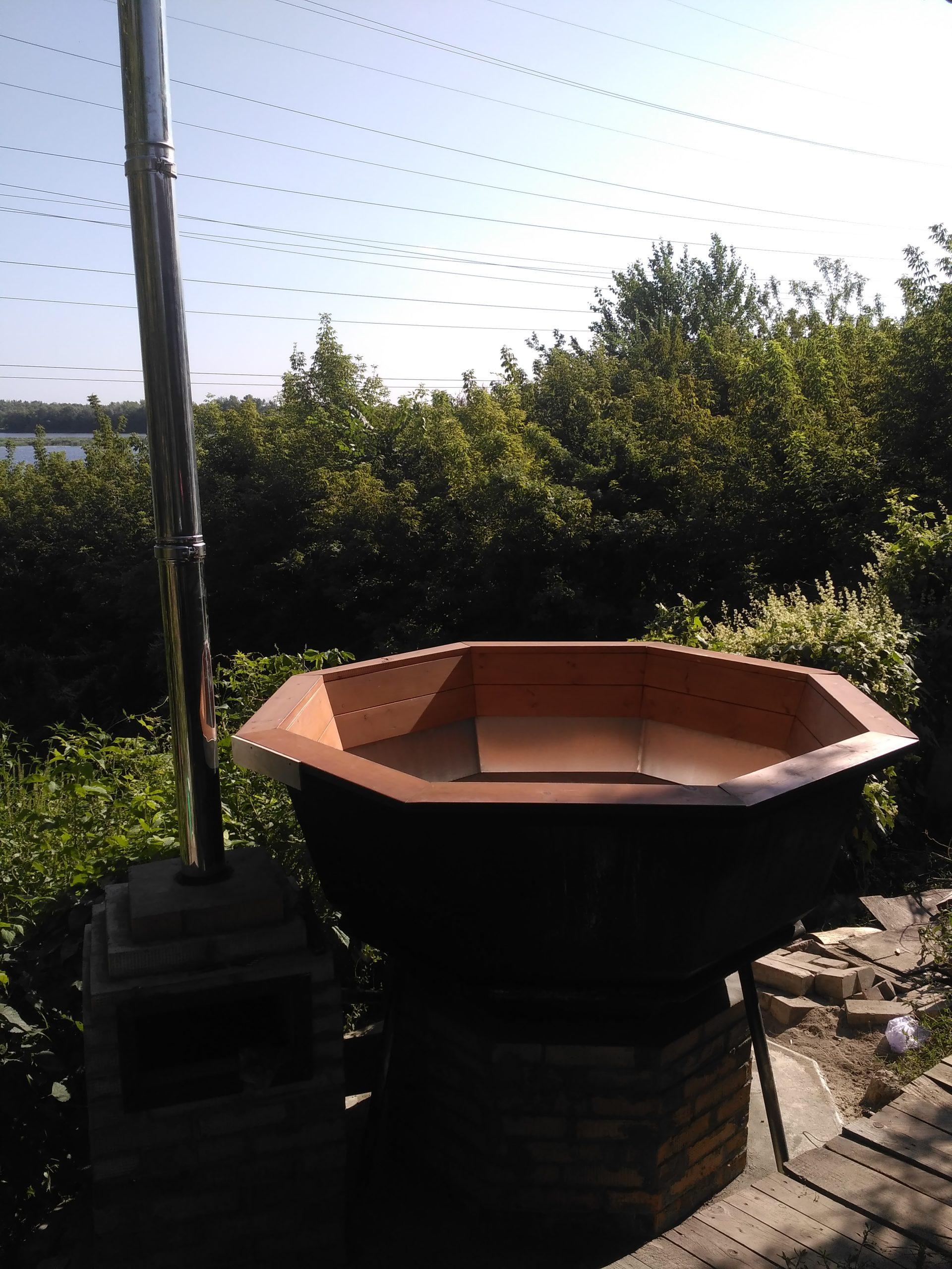 печь из кирпича под чаном