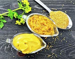 горчица в семянах, цветах и порошке
