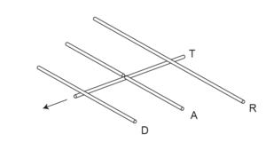 схема антенны - волновой канал, яга